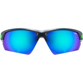 UVEX Sportstyle 224 Sportglasses black matt green/mirror gree